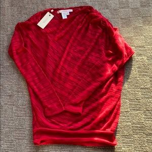 NWT Max Studio sweater with built in tank